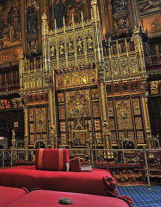 The Thrones in the Lords Chamber, background