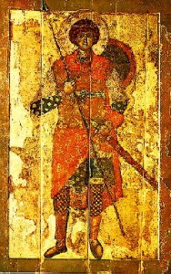 St George, 12th Century painting in the Tretyakov Gallery Collection