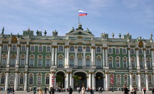 The Winter Palace in St Petersburg, home of the State Hermitage Museum, built from 1732-1837