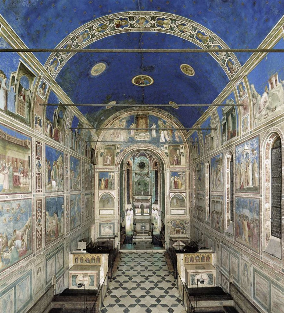 Giotto's Scrovegni chapel which our gap year course students visit