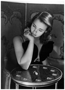 Gloria Vanderbilt, photographed in 1941 by Horst. American Vogue captioned: 'She is dark and beautiful, seventeen years old'.