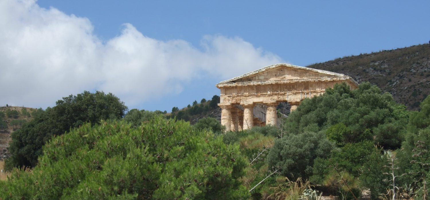 The ruined Elymian temple of Segesta, Sicily