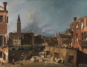 Canaletto, Venice, stonemason
