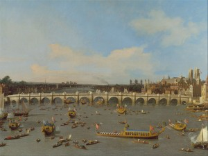 Canaletto, London, Lord Mayor's, Westminster Bridge