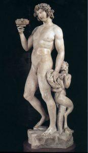 Michelangelo, Bacchus, sculpture, marble,