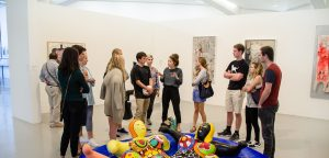 Tutor teaching the Semester gap year course in Modern Art museum