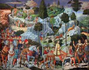 colourful painting of the Magi