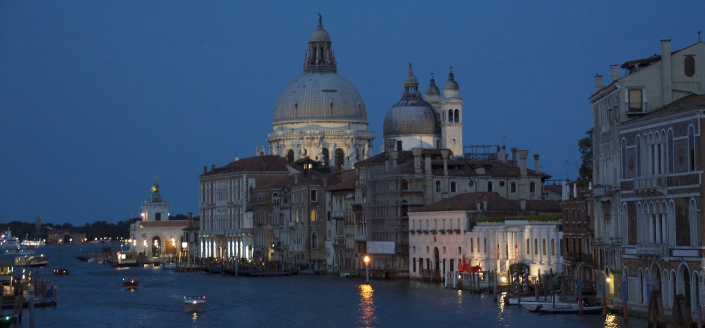 Venice Grand Canal night