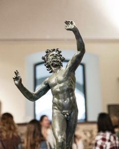 Sculpture of a faun
