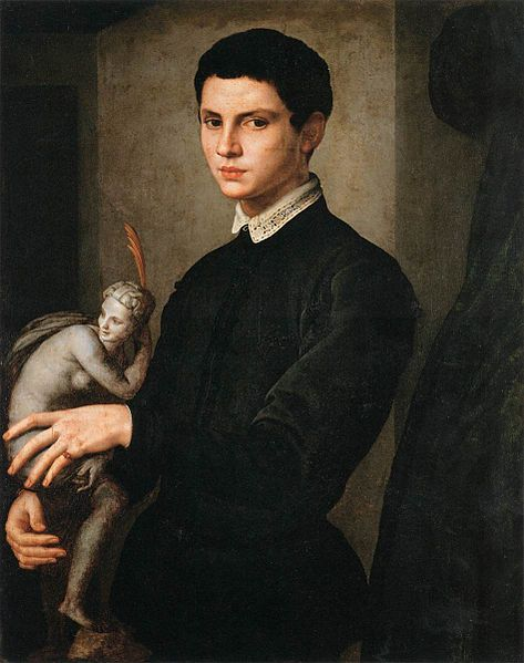 Bronzino, Portrait of a Man holding a Statuette