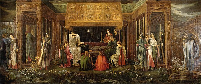 Burne-Jones, The Last sleep of Arthur in Avalon