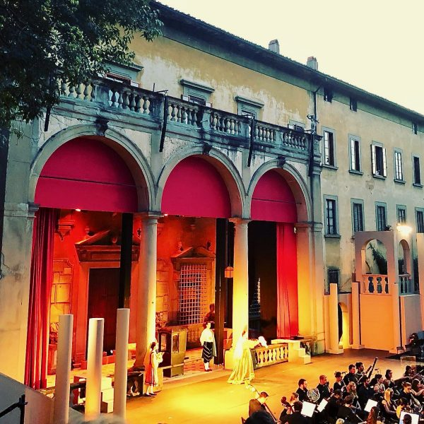 The stage at Palazzo Corsini
